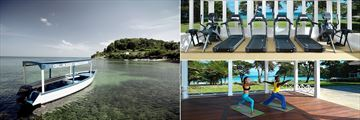 Round Hill Hotel and Villas, Glass Bottom Boat Trips, Fitness Centre and the Yoga Pavilion