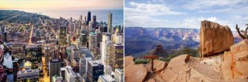 Chicago (left), and South Rim, Grand Canyon (right)