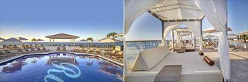 The pool and cabanas at Royalton Grenada