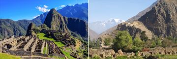 Machu Picchu (left), and Ollantaytambo (right)