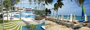 Outrigger Laguna Phuket Beach Resort, Pool Overlooking the Beach and Beach Service at Marine Centre
