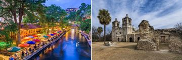 San Antonio Riverwalk & Mission