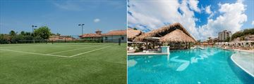 Sandals Grenada Resort & Spa, Tennis Courts and Pool