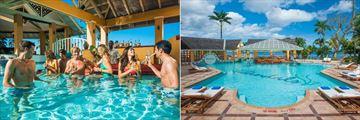 Sandals Negril Beach Resort & Spa, Swim-Up Bar and Main Pool