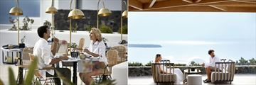 Alios Ilios Restaurant and Akratos Poolside Bar at Santo Maris Oia Luxury Suites & Spa