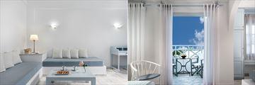Suite and Junior Suite at Santorini Kastelli Resort