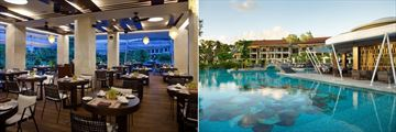 Savoy Seychelles Resort & Spa, Grand Savoy Restaurant and Pescado Restaurant and Pool