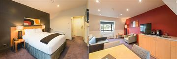 Scenic Hotel Southern Cross, Tower Suite Bedroom, Living Area and Kitchenette