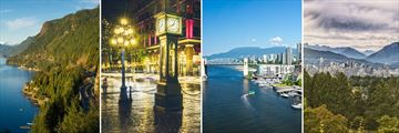 Sea-to-Sky Highway, Gastown & Vancouver Skyline views