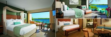 Standard Panoramic Ocean View, Preferred Club Junior Suite with Plunge Pool and Bungalow Suite at Secrets Papagayo