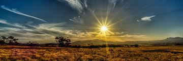 Sun setting over Flinders Ranges National Park