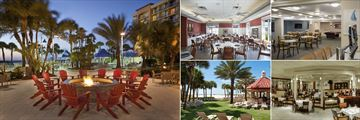 Sheraton Sand Key Resort, Fire Pit, Island Grille, Mainstary Tavern, Rustys Bistro and The Turtle Bar