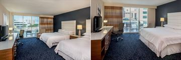 Sheraton Tampa Riverwalk Hotel, Two Doubles Room River View and One King Room City View