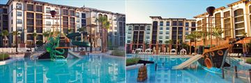 Sheraton Vistana Villages, St. Augustine Pool with Interactive Water Ship with Slides