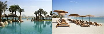 Main Pool and Beach at Sofitel Dubai The Palm