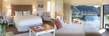 Solitaire Lodge, Tarawera Suite Bedroom and Executive Suite Bedroom