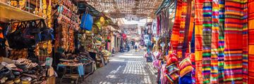 Colourful souks in Marrakesh