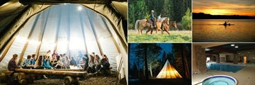 Spruce Hill Resort & Spa, Teepee, Horseback Riding, Kayaking, Indoor Pool and Hot Tub and Teepee