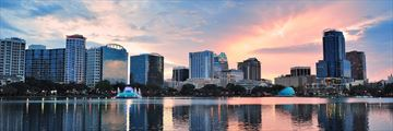 Sunset over Lake Eola, Orlando