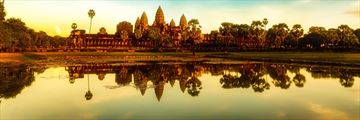 Sunset views of Angkor Wat
