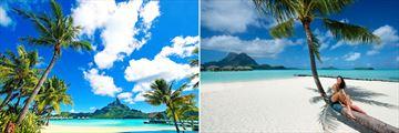 Matira beach in Bora Bora