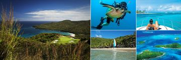 Tamarind Beach Hotel & Yacht Club, (clockwise from left): Golf, Diving, Boat Excursion, Island Tour and Watersports