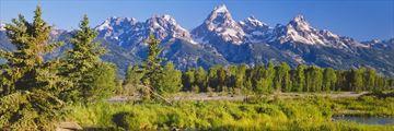 Teton Mountain range in Jackson, Wyoming