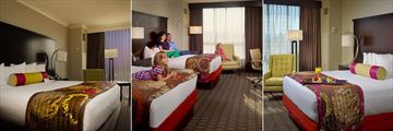 The Chattanoogan, (clockwise from left):  Mountain View Suite, Double Deluxe Room and King Room