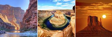 The Grand Canyon, Lake Powell's Horseshoe Bend & Monument Valley