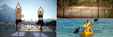 Yoga Sunrise Pier, Night Tennis and Kayaking at The Jewel Dunn's River Resort