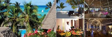 The Neptune Pwani Beach Resort & Spa, Pool and Beach Views, Beach and Sun Loungers, Gift Shop, Lounge and Buffet