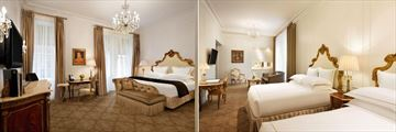 The Plaza New York, Deluxe King Room and Family Grand Luxe Two Queens Suite