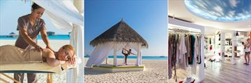 The Sun Siyam Iru Fushi, Spa Treatment, Yoga Pavilion and Boutique