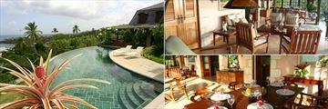 The Villas at Stonehaven, The Pavilion Restaurant and Clubhouse Pool, Villa Verandah and Villa Verandah Dining