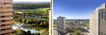 The Westin Edmonton, Views Overlooking the City and North Saskatchewan River