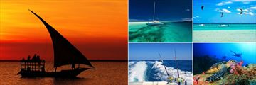 Sunset Cruise, Sailing, Kite Surfing, Scuba Diving and Deep Sea Fishing at The Z Hotel