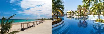 Moon Palace beach and pool