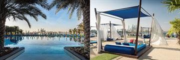 Pool and cabanas at Rixos The Palm Dubai