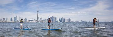 Paddle boarding on the Toronto harbourfront