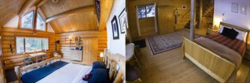 Tweedsmuir Park Lodge, Log Chalet Bedroom and Log Cabin Bedroom