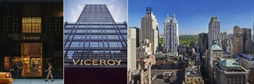Entrance, Hotel and Rooftop View at Viceroy Central Park New York