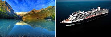 The Rockies in Lake Louise & Nieuw Amsterdam Cruise Ship