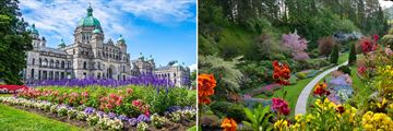 Victoria Parliament Building & Butchart Gardens in the Spring