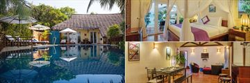 Victoria Phan Thiet, Family Pool Villa Exterior, Master Bedroom and Dining and Living Area