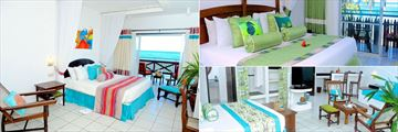 Voyager Beach Resort, Executive Sea View, Superior Sea View and Executive Garden Cabins