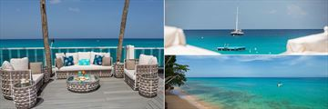 Beach Deck, Ocean View and the Beach at Waves Hotel & Spa by Elegant Hotels