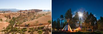 Horse riding and camping in Bryce Canyon National Park