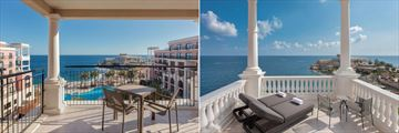 Deluxe Sea View Balcony and Tower Guest Room Terrace at The Westin Dragonara