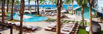 Pool Deck Facing North at Westin Grand Cayman Seven Mile Beach Resort
