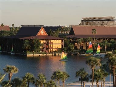 Exterior of Disney's Polynesian Resort